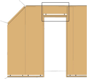 TM-innervägg dörr-topp 265cm - 87011